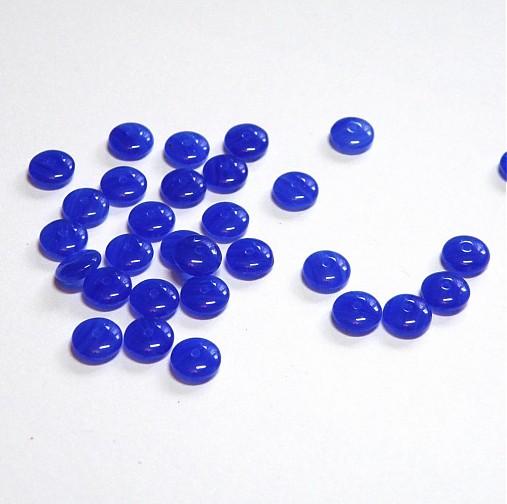 0015 Tmavomodré disky 6x2,4 mm, 30 ks