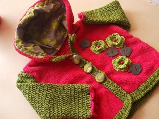 a52a51fd5b8e Zmiešaná bundička-zeleno-cyklámenová   hajnusa - SAShE.sk - Handmade ...