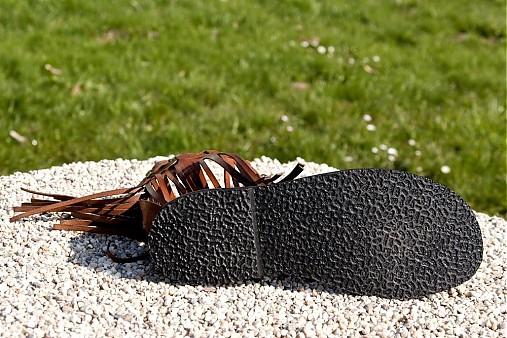 19f6ef16bc45 Kožené sandále WOODSTOCK   Hippiestyle - SAShE.sk - Handmade Obuv