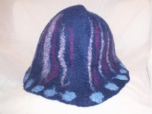 40ba3821b Modrý plstený klobúk / m29m - SAShE.sk - Handmade Čiapky