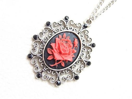 4f8412598 červená gotická ruža / Alejandra - SAShE.sk - Handmade Náhrdelníky