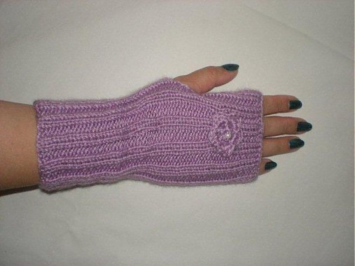 Ručne pletené rukavice - fialkové   norika21 - SAShE.sk - Handmade ... 1b9aed5e5e