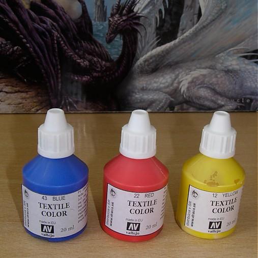 Štartovací balíček - 3 ks farby na textil