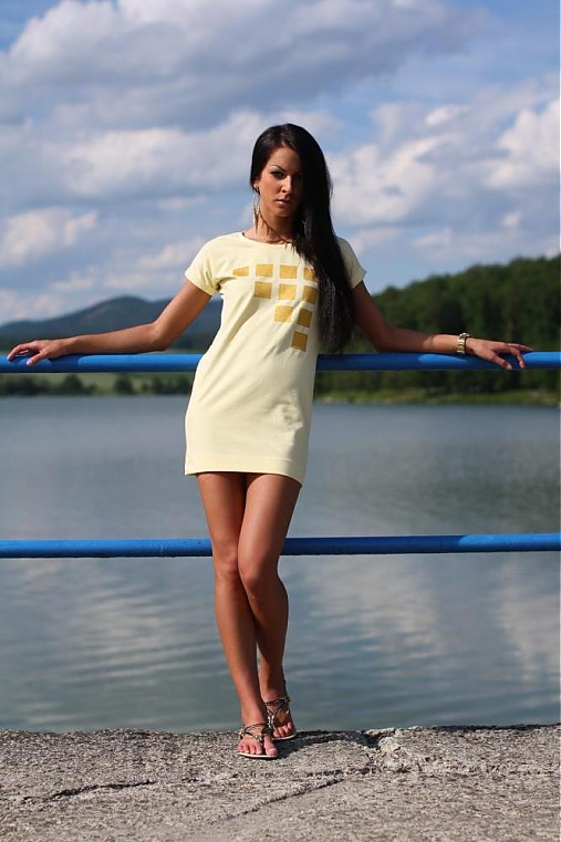 Citrónové ležérne šaty   veronikaIN FASHION - SAShE.sk - Handmade Šaty 7e6b129698d