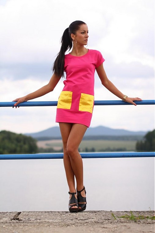 Ležérne šaty - saténové vrecká    veronikaIN FASHION - SAShE.sk ... 3c081180dab