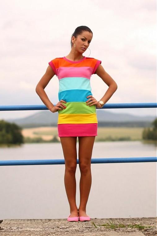 SUMMER DRESS COLOR   veronikaIN FASHION - SAShE.sk - Handmade Šaty 451a239b678