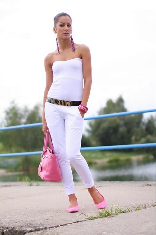 Ležérne nohavice  WHITE   !!!   veronikaIN FASHION - SAShE.sk ... efcd576ca6e
