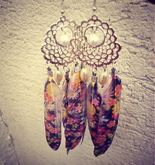 3b12cc9c0 Hippies Flowers / DesigndelaRena - SAShE.sk - Handmade Náušnice