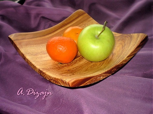 Moderná misa so sprchnutej jablone / na objednávku