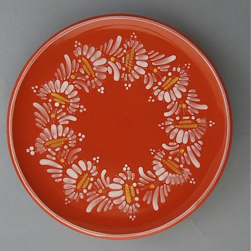 Tác, podnos, talíř kopretina 22 červený