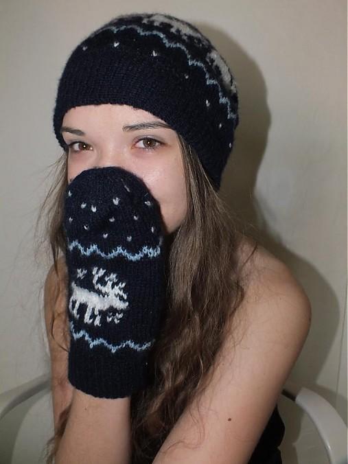 a5263e578 zimná pletená čiapka a rukavice / m29m - SAShE.sk - Handmade Čiapky