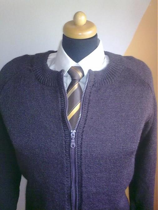 dfcacc1d7 Pánsky sveter na zips / pletenavyroba - SAShE.sk - Handmade Oblečenie