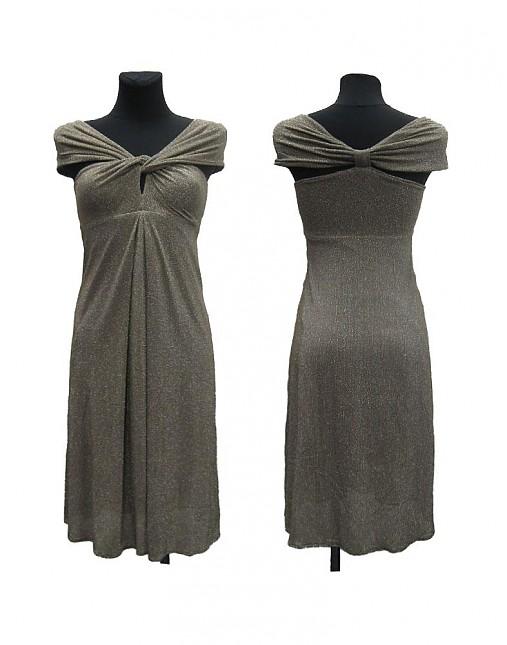 Zlaté spoločenské šaty   Dyona - SAShE.sk - Handmade Šaty 1c7301e6429