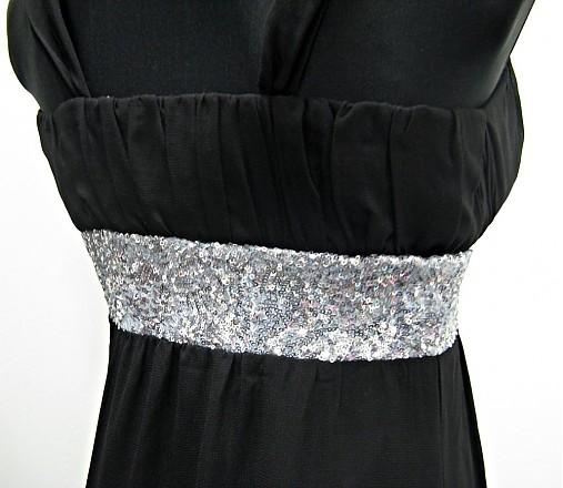 9dcbfc2037f4 Šifónové spoločenské šaty s flitrami   Dyona - SAShE.sk - Handmade Šaty