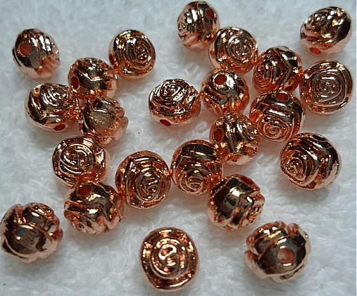 Kov.ružička 7mm-ruž.zlatá-1ks