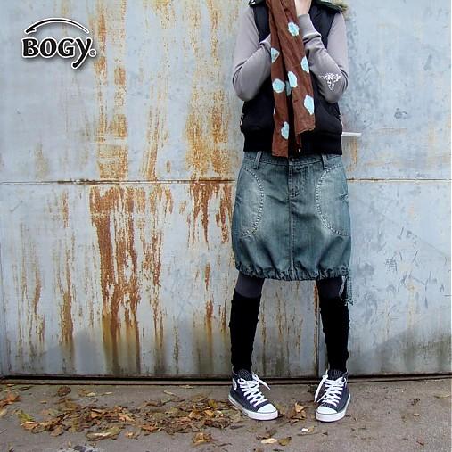 a38171b4ddb Dámská riflová sukně (balónová) v odstínu petrolej   BOGY - SAShE.sk ...