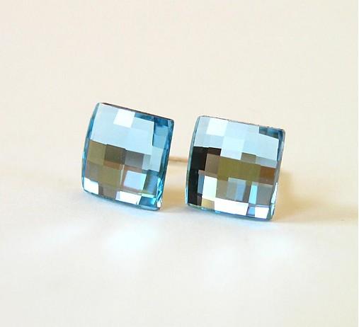 5425f467a Swarovski chessboard svetlo modré AG925 / kacenkag - SAShE.sk ...