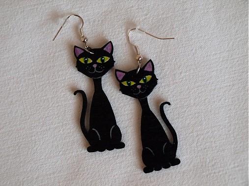 Náušnice - Black Cat