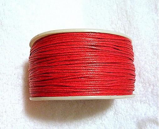 Bavlnená voskovaná šnúrka 1mm-1m
