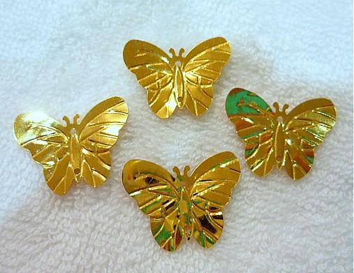 Flitre motýlik 22x29mm-20ks (zlatá)