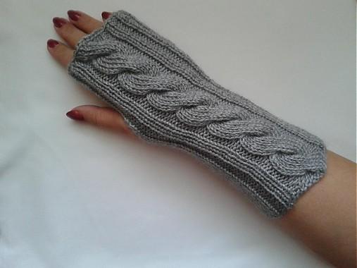 Bezprstové šedé rukavice   norika21 - SAShE.sk - Handmade Rukavice 15dddd87e0