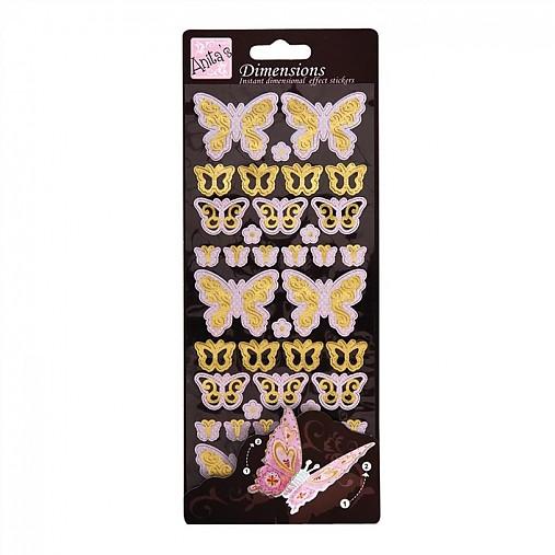 V zľave z 1,20€ Priestorové nálepky ľahučký motýlik