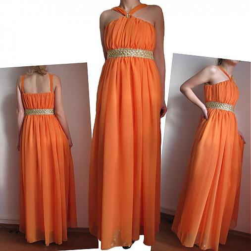 Spoločenské šaty so zlatým pásom- rôzne farby   Dyona - SAShE.sk ... cba6f5ed5fe