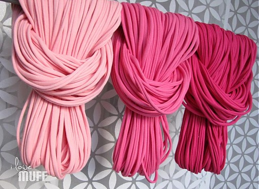 špagetky - 3 odtiene ružovej