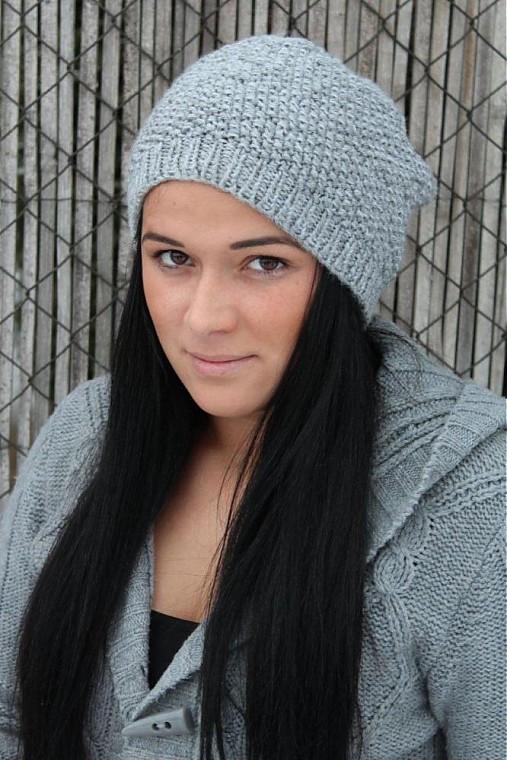 Okamžite k odberu- Pletená čiapka pre dospelých   kitto - SAShE.sk ... 28a0844b031