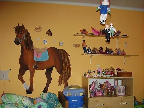 Maľba Na Stenu Kon V Detskej Izbe Lienocka Sashe Sk Handmade