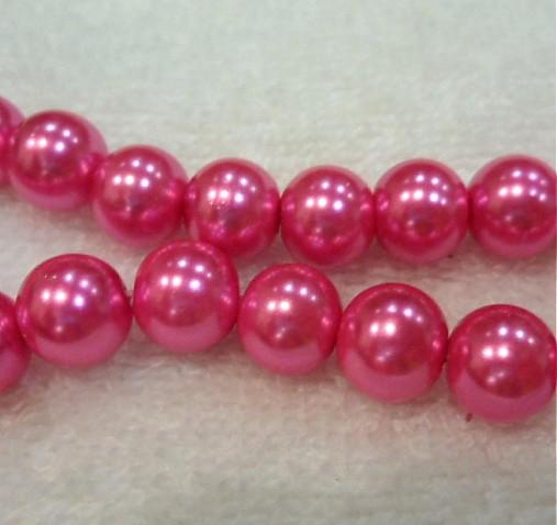 Vosk.perly 10mm-8ks (ružová)