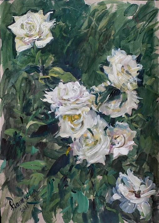 Reprodukcia - Biele ruže