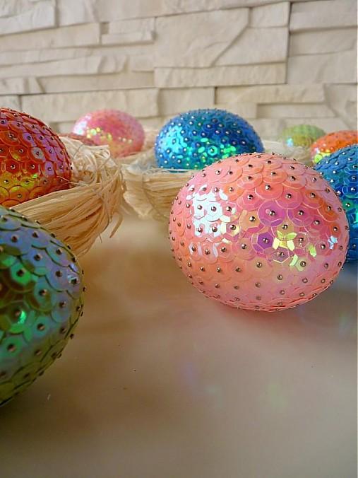 Pastelové flitrované jarné vajíčka...   MONIKA-D - SAShE.sk - Handmade c72a8417d6b