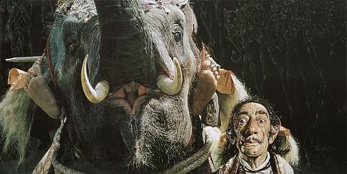 Reprodukcia - Našiel som slona Salvadora Dalího