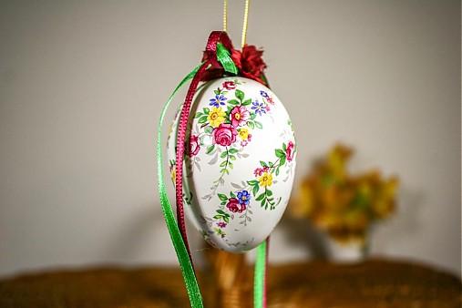 Dekorácie - Veľkonočné vajíčko - tradičné kvietky - 2332586
