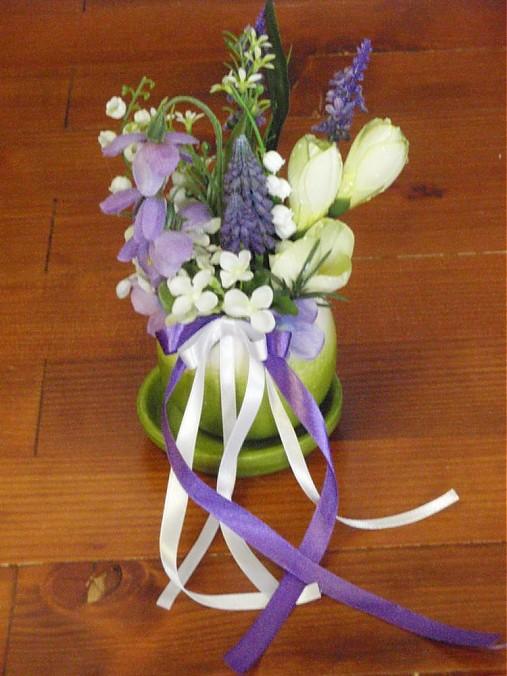 Fialovo zelená jarná dekorácia   erikak - SAShE.sk - Handmade Dekorácie dce23ff1ca0