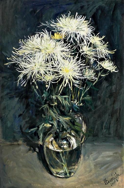 Reprodukcia - Chryzantémy