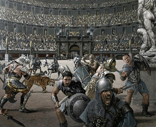 Reprodukcia - Gladiátor