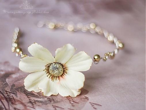 Zlatá čelenka s třpytivým květem   jitkita - SAShE.sk - Handmade cdd97cce6e