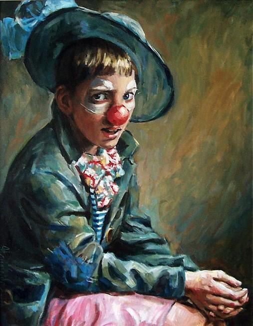 Reprodukcia - Malý klaun