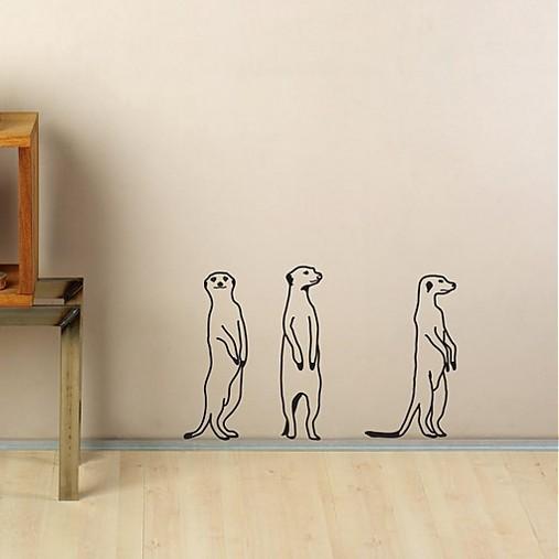 Surikaty- vtipna nálepka na stenu