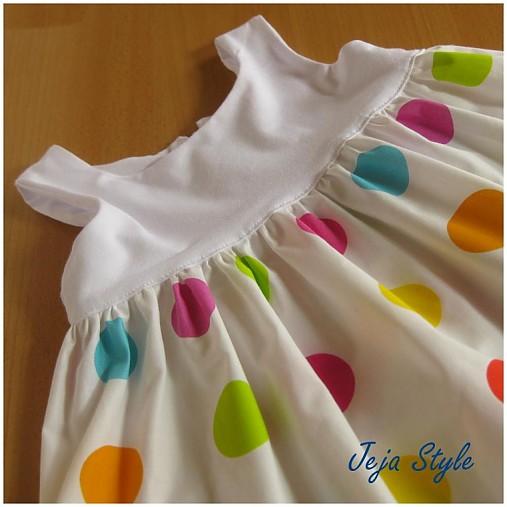 fb9d8d4480d2 Šaty letné bodkované   JejaStyle - SAShE.sk - Handmade Detské oblečenie