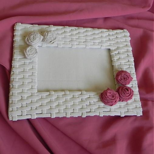Pletený fotorámik - papierové pletenie