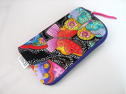 Barevní motýlci - pouzdro na mobil