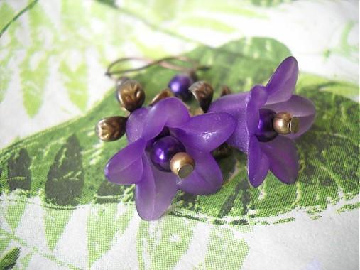 276fa4ef5 Fialové zvončeky bronzové / Lu-Lu - SAShE.sk - Handmade Náušnice