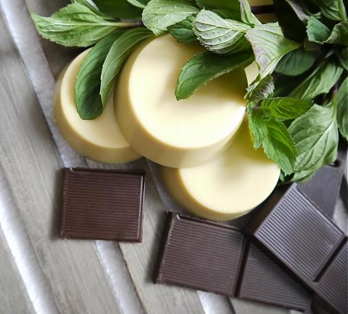 Kakao a mäta - masážna kocka
