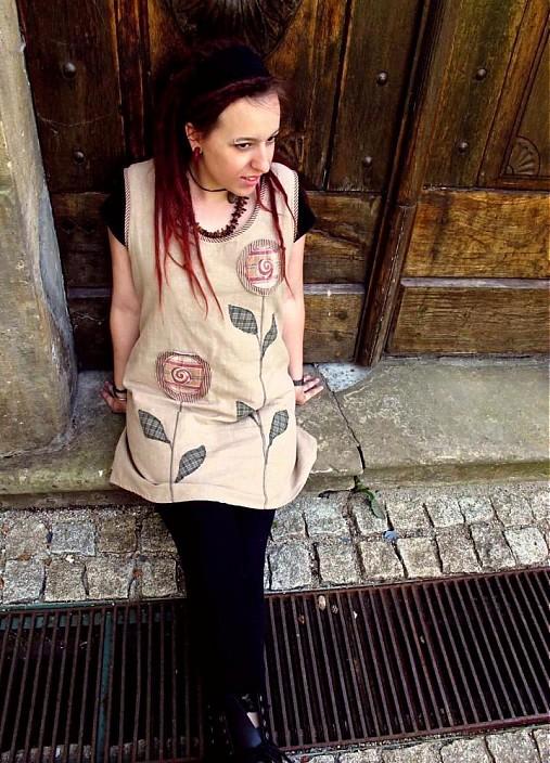 79e0841dd65 Šaty s kytkama   byCaldero - SAShE.sk - Handmade Šaty