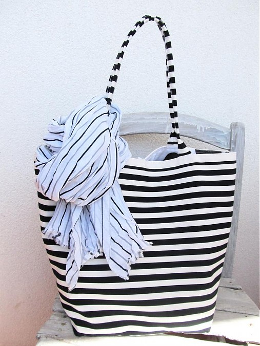 Lolly Navy  cierno biela šatka  na objednavku    LOLLY.bags - SAShE ... 3da3a2de307