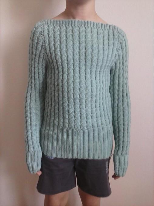 f2b2c0e7294 Damsky pleteny pulover na mieru   terai - SAShE.sk - Handmade Svetre ...