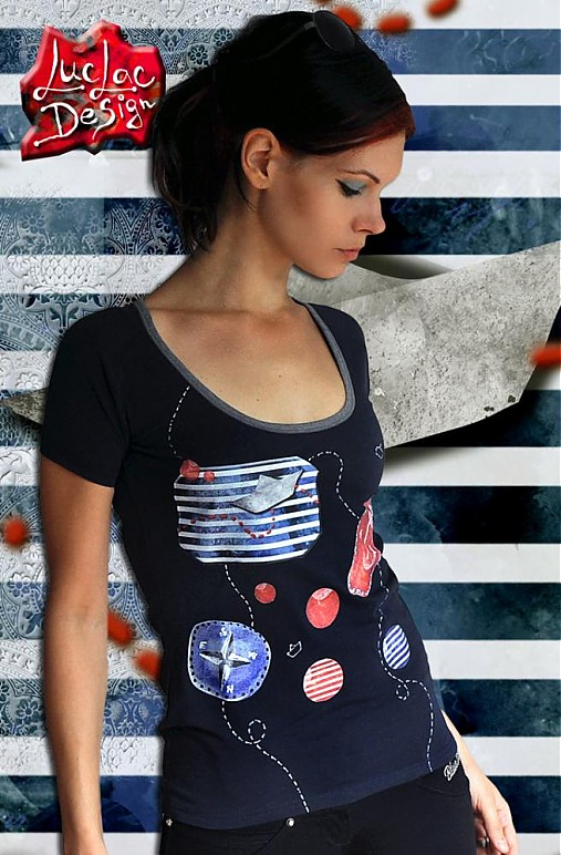 Tričká - Pepek tmavomodrý námorník - 2590789